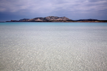Beautiful sea in paradise beach in Sardinia in Italy