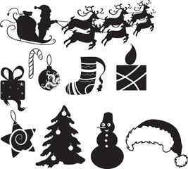set of christmas icon