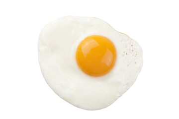 Fond de hotte en verre imprimé Ouf fried egg isolated