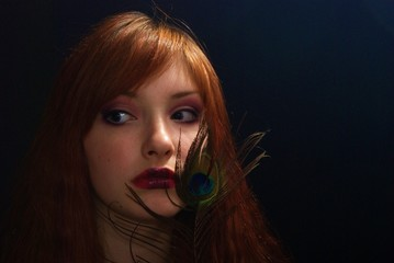 Portrait of the girl. A make-up.