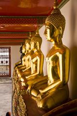 many golden image of buddha