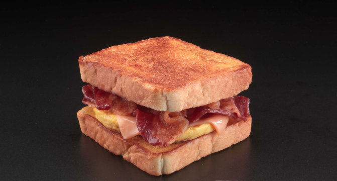 bacon egg and cheese toaster breakfast sandwich