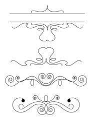 Design floral vector frame elements