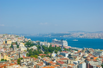 Fotobehang Napels Istanbul city skape as it looks from galata tower
