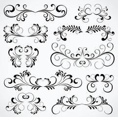 Set of ten ornate elements for design
