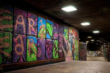 Graffiti in skate park