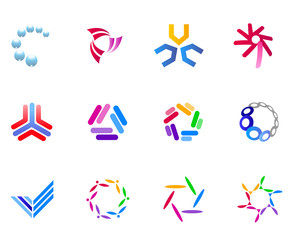 Set of different colorful icons for your design (part 15)