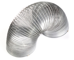 Slinky spring toy on a white background
