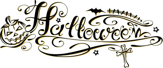 Halloween Schriftzug, Logo, design element