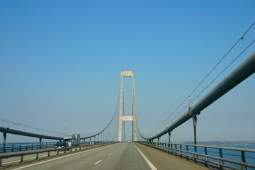On the Great Belt Bridge Denmark