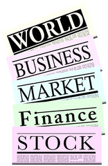 Fictitious Financial Newspapers With Lorem Ipsum Copy