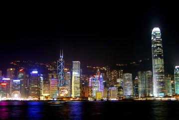 Night light show, Kowloon, Hongkong