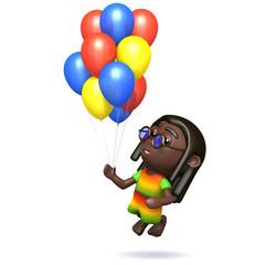 Rastafarian balloons