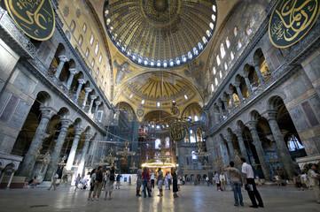 Foto op Aluminium Turkije Hagia Sophia (Interior) Istanbul, Turkey
