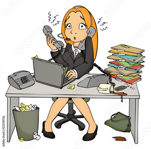 Quot stress arbeit büro angestellte sekretärin