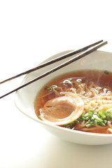 Japanese soup noodles with roasted pork