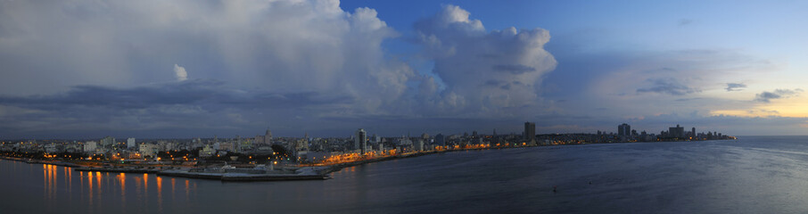 Havana skyline panorama at dusk