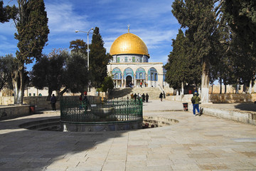 Dome of the Rock mosque on the Temple Mount, Jerusalem
