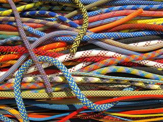Foto op Aluminium Alpinisme corde di sicurezza