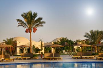 Egyptian resort, swimming pool.