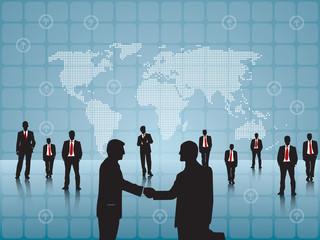 business men closing the deal work