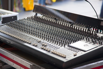 audio mixer in detail