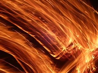 Streaks of flame