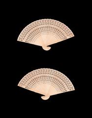 Wooden chinese fan