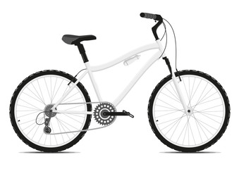 Poster de jardin Velo Bicycle on a white background. Vector.