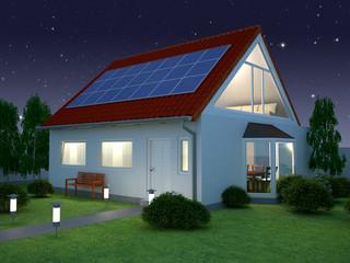Solarhaus Nacht