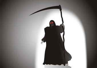 Black death in a raincoat