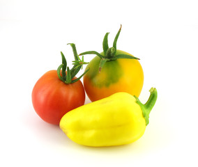 Tomatoes and pepper
