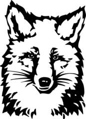 Fox Vinyl Ready Vector Illustration