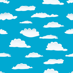 Printed roller blinds Heaven seamless clouds