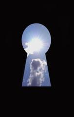 Sun through keyhole