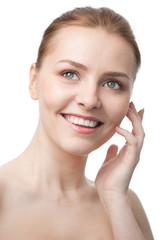 beauty close-up woman face