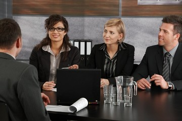 Business partners sitting on meeting