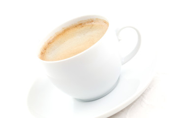 gefüllte Kaffeetasse