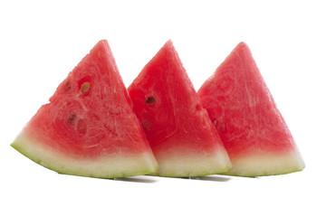 Fresh slices of watermelon