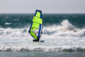 Windsurfing at Atlantic ocean