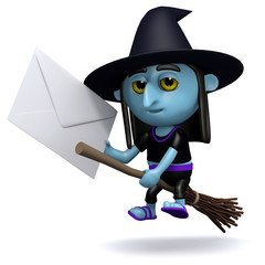Witch sends a letter