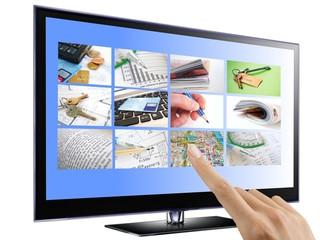 Interactive TV conceptual illustration