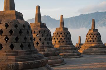Fotobehang Indonesië Borobudur temple, Java, Indonesia
