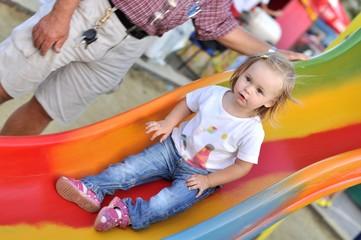 baby in slide