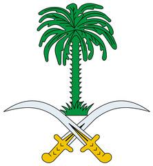 Fototapete - Saudi Arabia Coat of Arms
