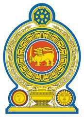 Fototapete - Sri Lanka coat of Arms