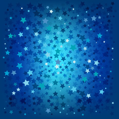 abstract christmas blue stars background