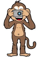 Happy Monkey with camera