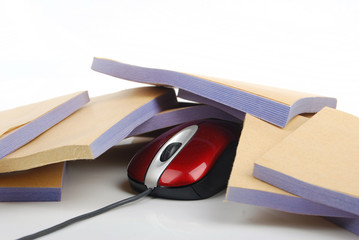 computer mouse with bills