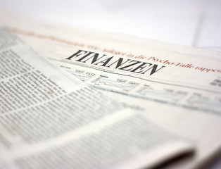 Fotobehang Kranten german newspaper finanzen